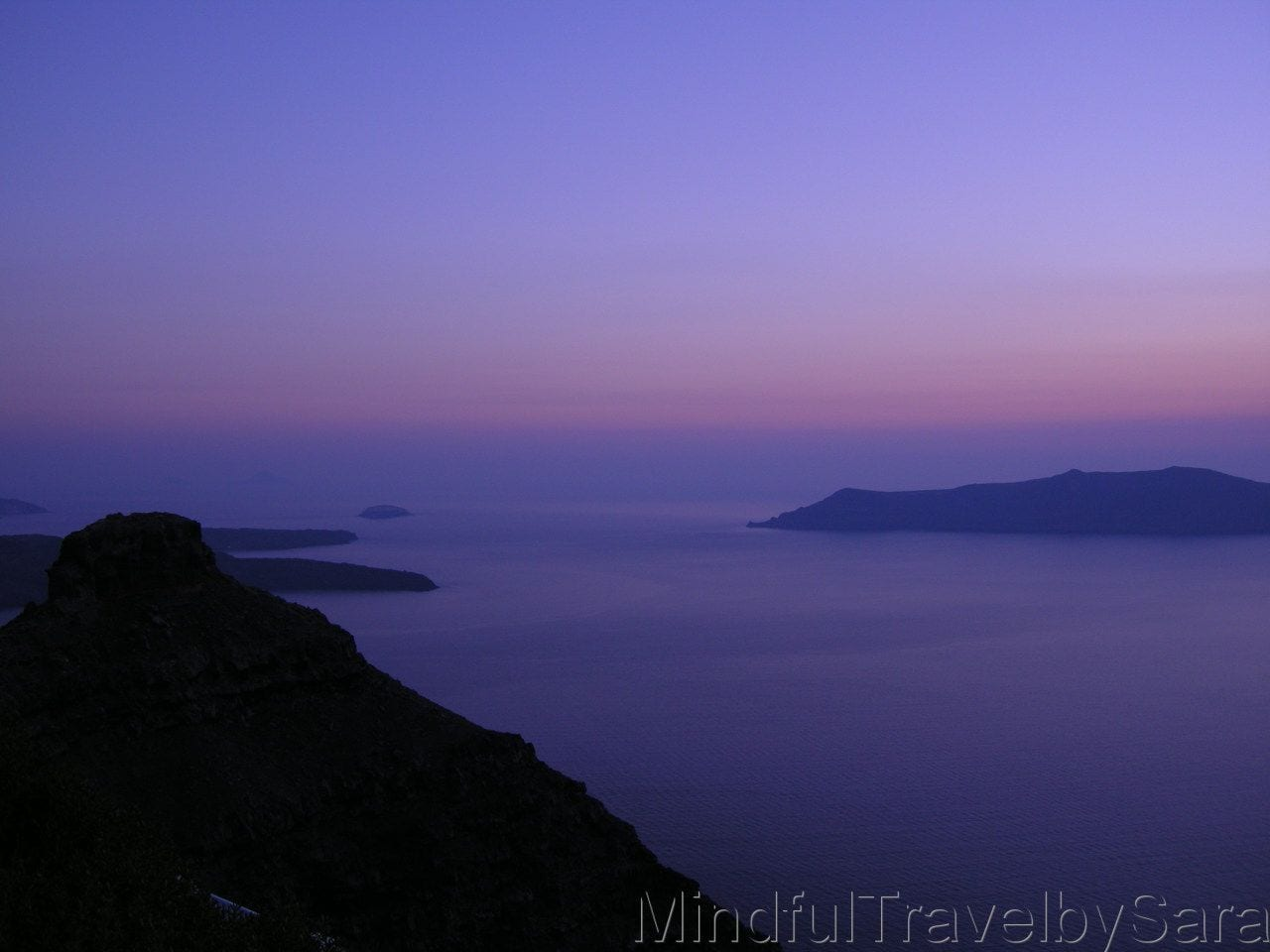 Atardecer en Santorini