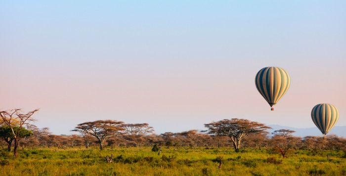 Viaje en globo al amanecer en Masai Mara