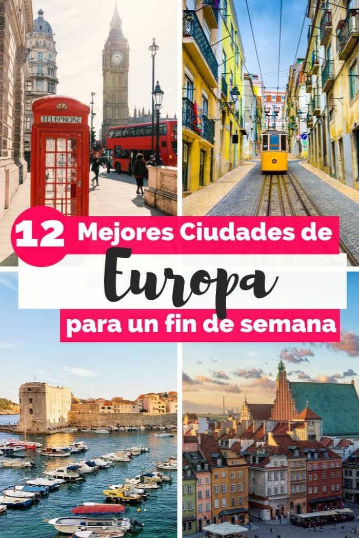 Mejores Ciudades de Europa para visitar
