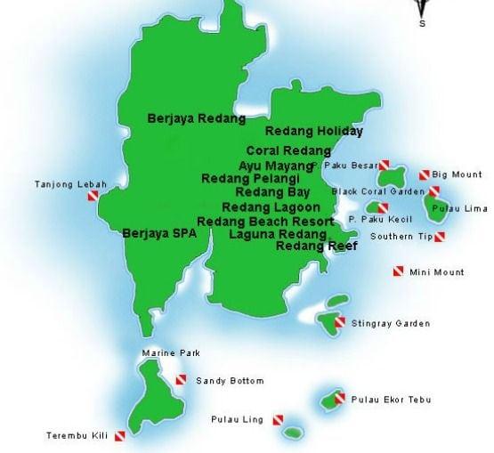 Pulau Redang Mapa