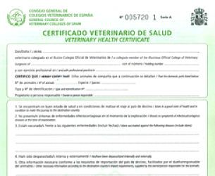 certificado de salud perros