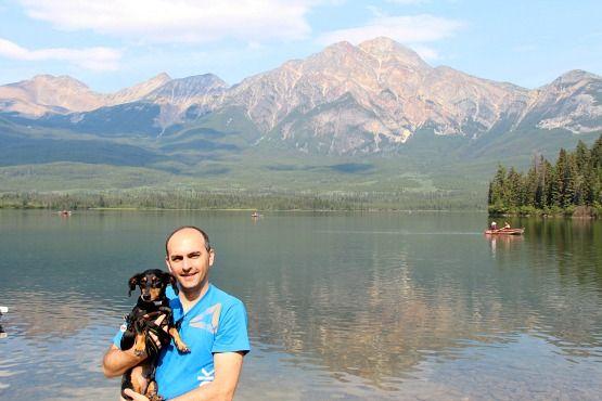 Viajar con Perro a Canadá Lago Esmeralda
