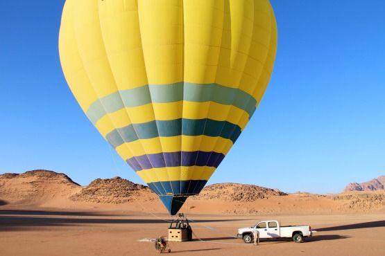 volar en globo Jordania