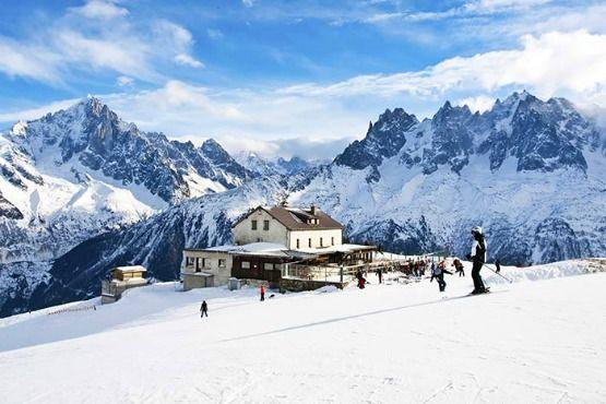 esquiar en los Alpes