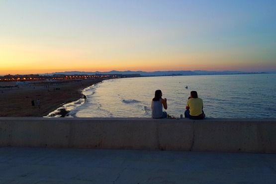 Atardecer playas de Valencia