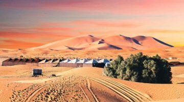 Dormir en el desierto de Merzouga
