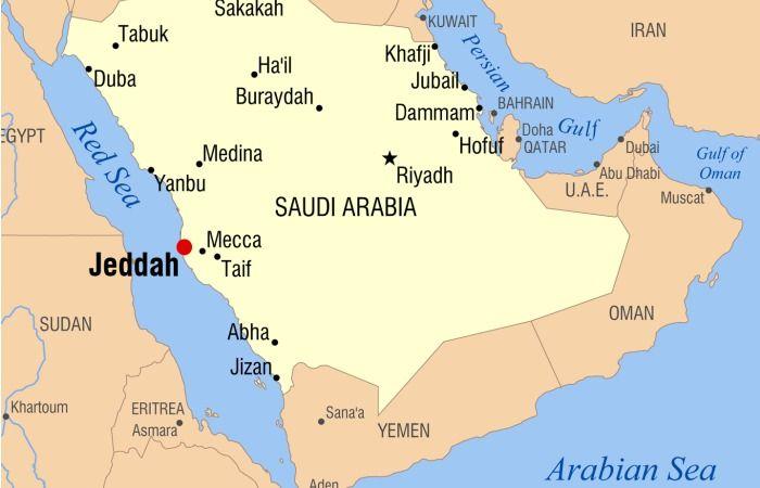 map of Jeddah Saudi Arabia