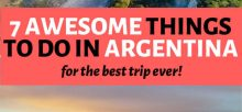 What are some great places to go on vacation in Argentina