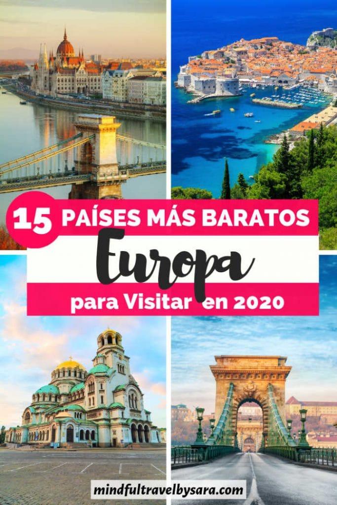 donde viajar en europa barato