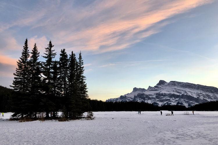 Banff in Winter Two Jack Lake