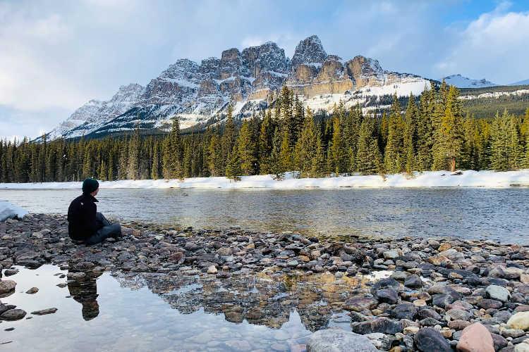 Bow Lake at Banff National Park Canada