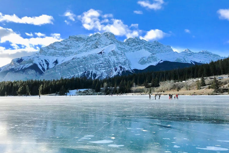 Two Jack Lake in winter
