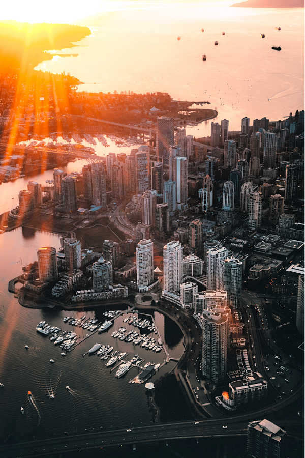 Vancouver city from the air