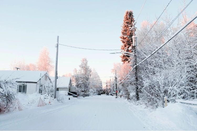 Fairbanks in winter