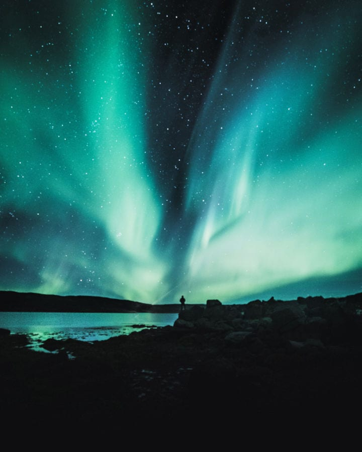 Westfjords, best place in Iceland to see northern lights