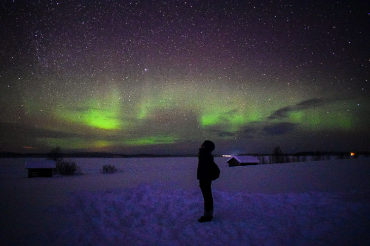 Yllas, Finland best time and place to see northern lights