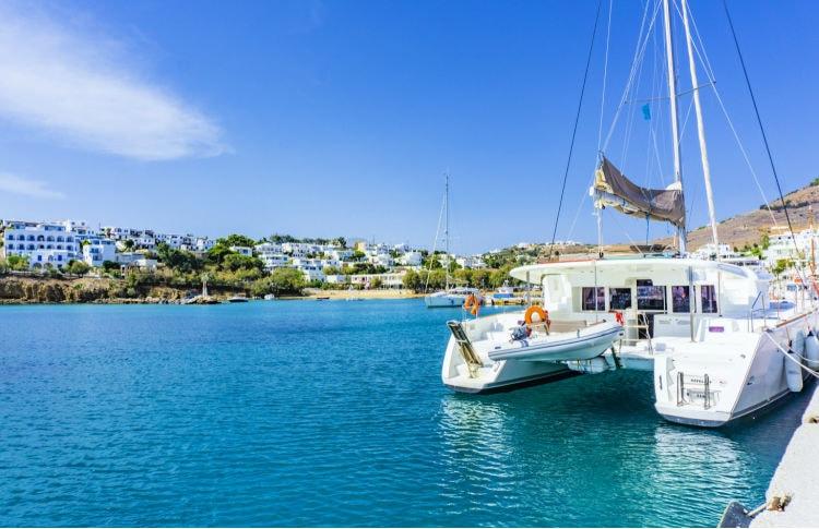 Viaje a las islas Griegas en catamarán