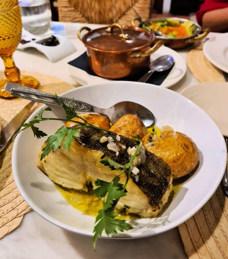 Bacalao del restaurante Restaurante Solar do Forcado en Portalegre